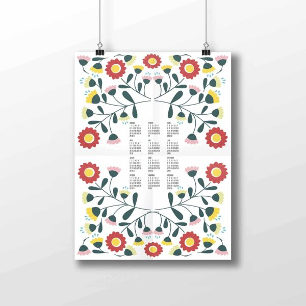 Affiche Calendrier collection Peony