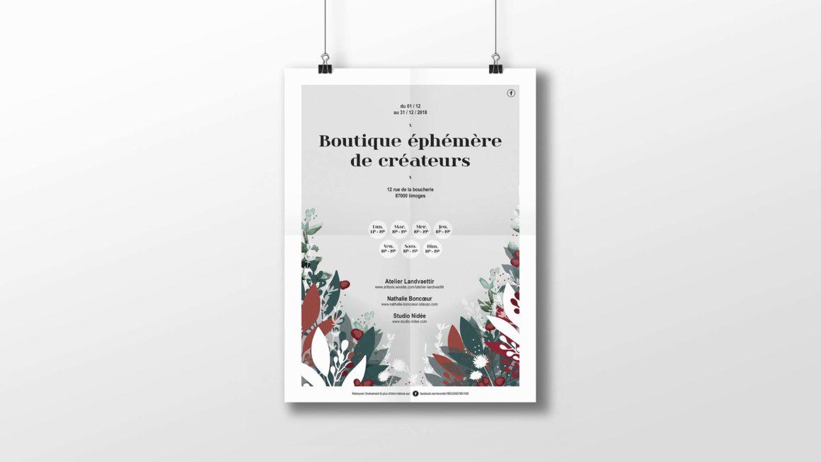 Affiche boutique de créateurs