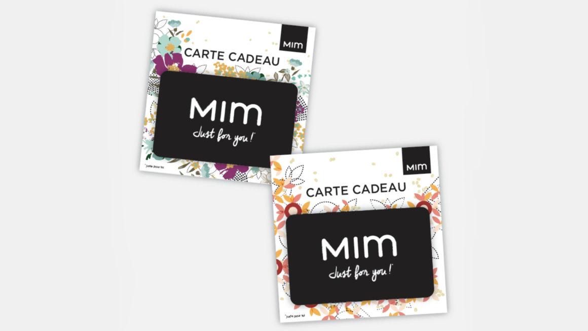 Packaging cartes cadeaux Mim