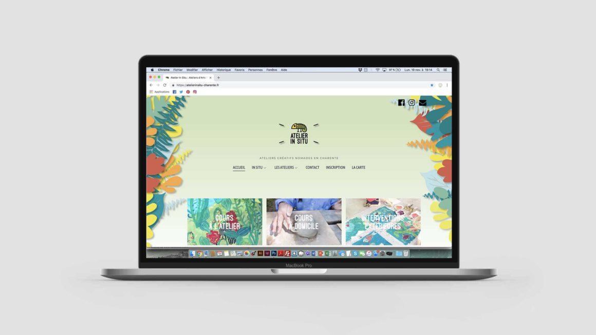 Webdesign et développement du site Atelier In Situ