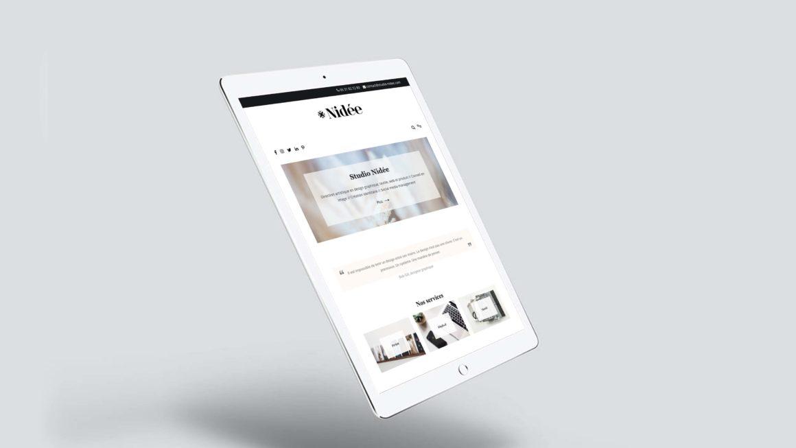 Webdesign et développement du site Nidée