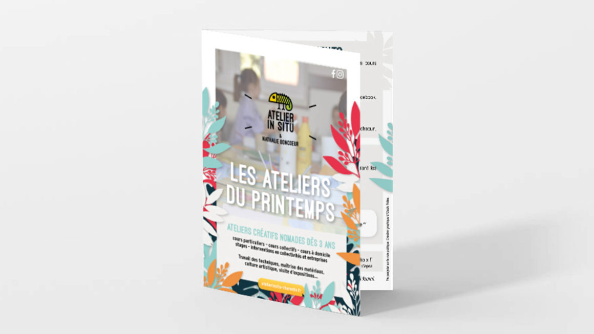 Flyer Printemps pour l'Atelier In Situ