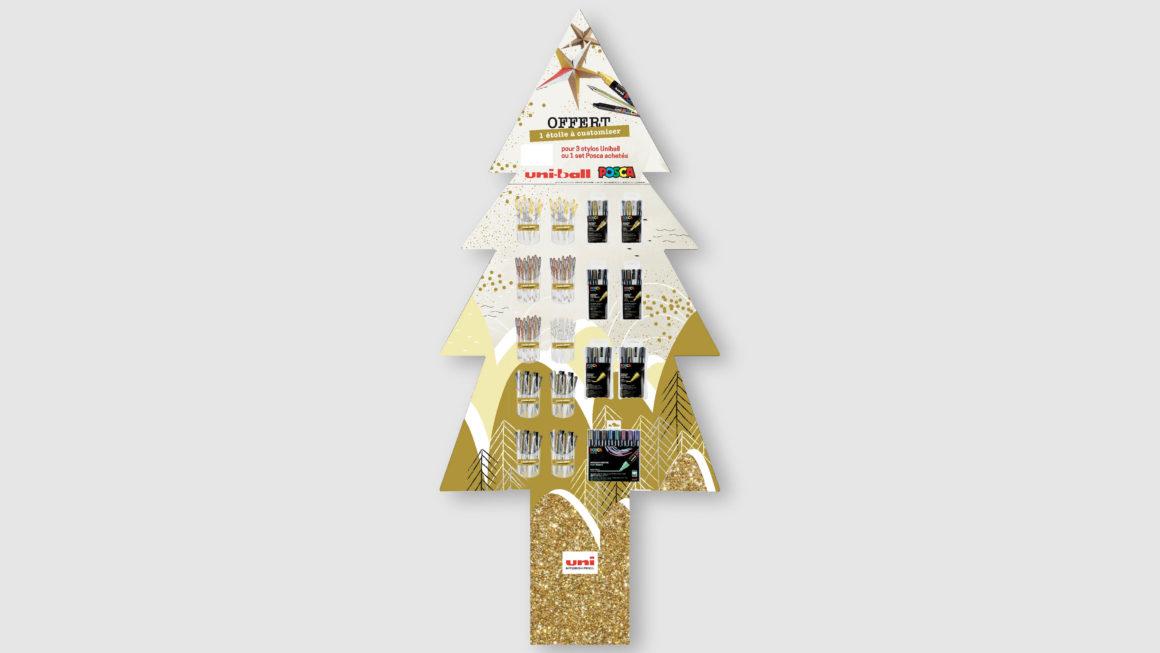 PLV Noël 2018 Posca Uniball