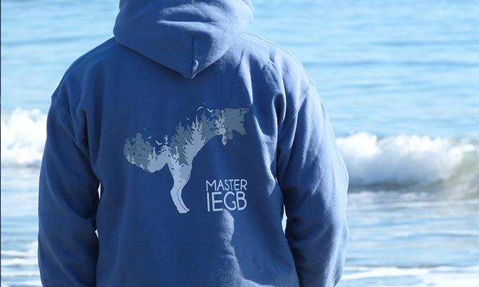 Motif Renard, vêtements promotionnels du master IEGB, 2017