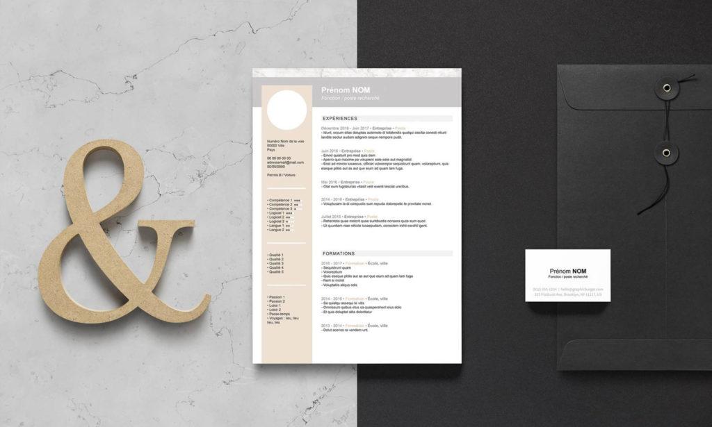 Template de CV format Word